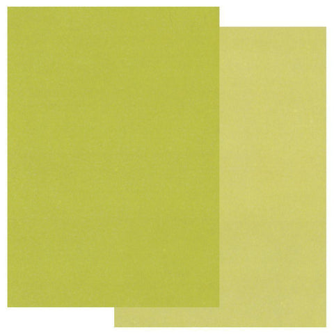 Green A4 Two Tone Parchment Paper x10