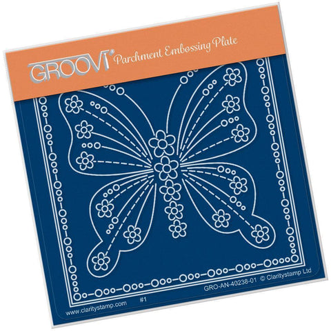 Tina's Butterfly Papillon <br/>A6 Square Groovi Baby Plate