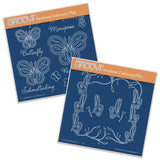 Butterflies Set <br/> A5 Square Groovi Plates (Set of 2)