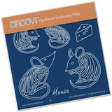 Mice A6 Square Groovi Baby Plate (Set GRO-AN-40527-01)