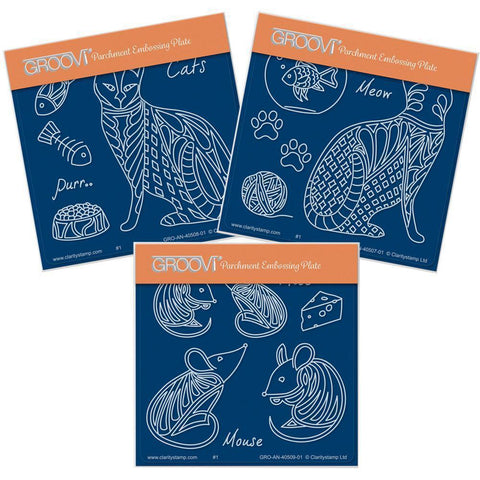 Feline Delights <br/>A6 Square Groovi Baby Plate Set