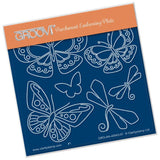 Baby Tina's Butterfly Fun <br/>A6 Square Groovi Plate