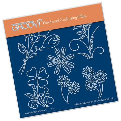 Baby Tina's Flower Fun <br/>A6 Square Groovi Plate