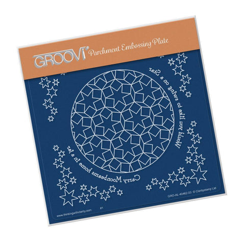 Swing on a Star <br/>A5 Square Groovi Plate <br/>(Set GRO-AL-40495-03)