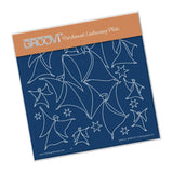 Angels & Stars <br/> A5 Square Groovi Plate <br/> (Set GRO-AL-40495-03)