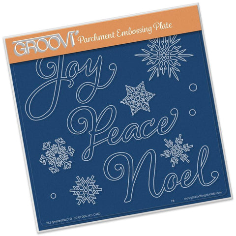 Christmas Words <br/>A5 Square Groovi Plate <br/>(Set GRO-CH-40032-03)