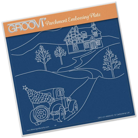 Country Cottage <br/>A5 Square Groovi Plate <br/>(Set GRO-CH-40087-03)