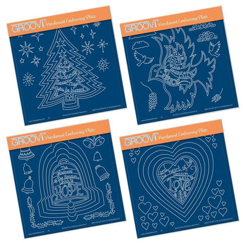 During this Christmas Verses <br/>A5 Square Groovi Plate Set