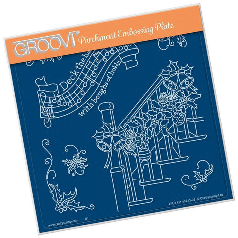 Deck the Halls <br>A5 Square Groovi Plate (Set GRO-CH-40798-03)