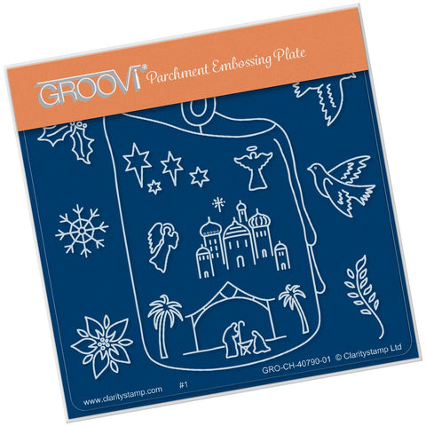 Candle Outline A6 Square Groovi Baby Plate (Set GRO-CH-40821-01)