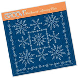 Tina's Snowflake Frame A5 Square Groovi Plate
