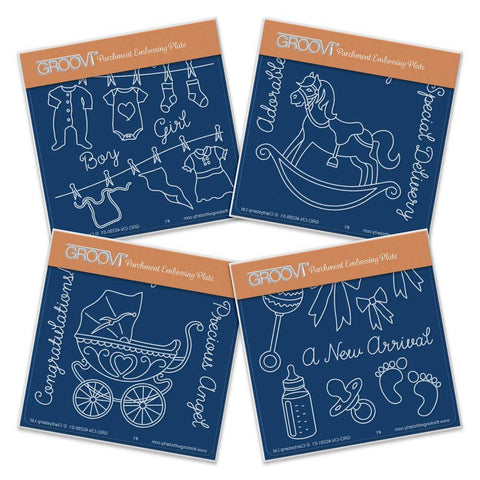New Arrival <br/>A6 Square Groovi Baby Plate Set