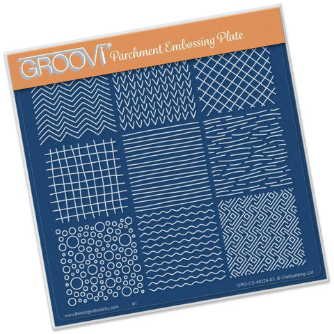 Textures <br/> A5 Square Groovi Plate <br/> (Set GRO-CS-40342-03)