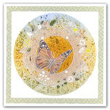 Butterfly Wreath & Meadow Grasses A5 Square Groovi Plate Set