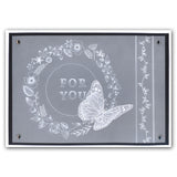 Butterfly Wreath A5 Square Groovi Plate (Set GRO-FL-40013-03)