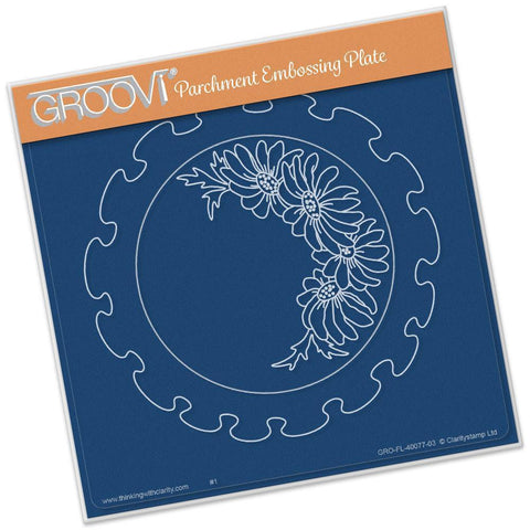 Frilly Circle <br/> A5 Square Groovi Plate <br/> (Set GRO-FL-40081-03)