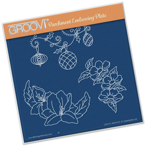 Frilly Circle Friends <br/>A5 Square Groovi Plate <br/>(Set GRO-FL-40078-03)