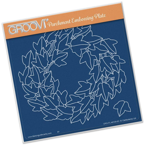 Ivy Wreath A5 Square Groovi Plate (Set GRO-AN-40108-03)