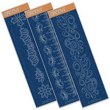 Art Deco & Ocean Swirls <br/> Groovi Border Plates (Set of 3)