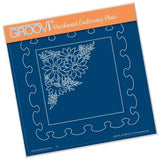 Frilly Square <br/>A5 Square Groovi Plate <br/>(Set GRO-FL-40805-03)