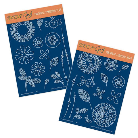 Tina's Doodle Flowers <br/>A6 Groovi Plate Set