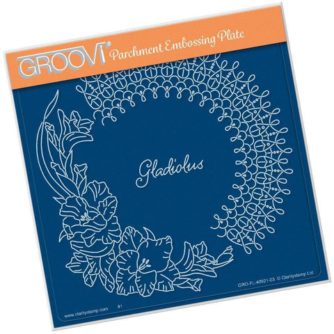 Linda's Gladiolus & Lace <br/>A5 Square Groovi Plate