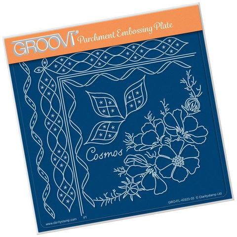 Linda's Cosmos & Lace <br/>A5 Square Groovi Plate