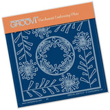 Tina's Allium Flowers Parchlet <br/>A6 Square Groovi Baby Plate