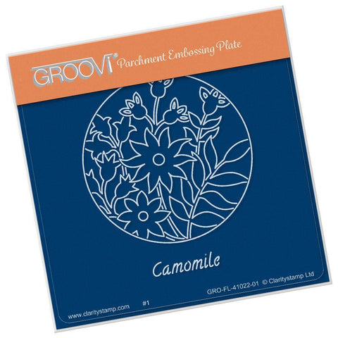 Camomile & Friends Round <br/>A6 Square Groovi Baby Plate <br/>(Set GRO-FL-41055-01)