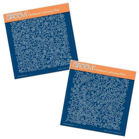 Floral Backgrounds <br/>A5 Square Groovi Plate Set