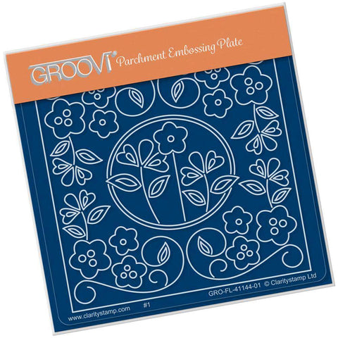 Tina's Floral Window <br/>A6 Square Groovi Baby Plate