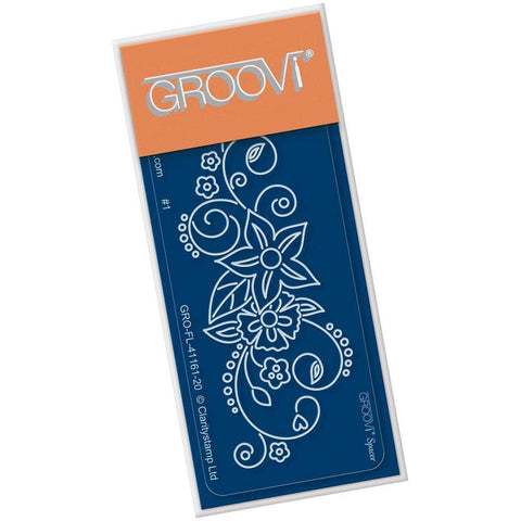 Tina's Flower Swirl Spacer <br/>Groovi Go! Spacer Plate