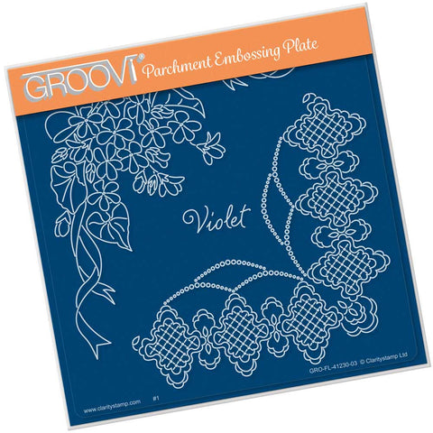 Linda's Violet & Lace <br/>A5 Square Groovi Plate