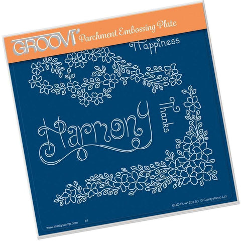 Tina's Harmony Flowers <br/>A5 Square Groovi Plate