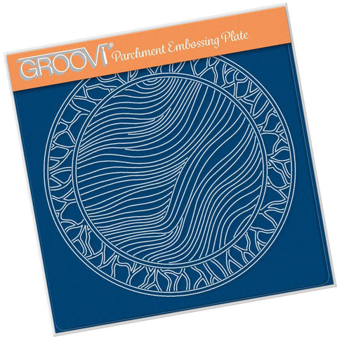 Fairy Background Round <br/>A5 Square Groovi Plate <br/>(Set GRO-FY-40976-03)