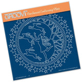 Fairy Night Round A5 Square Groovi Plate (Set GRO-FY-40976-03)