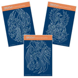 Dragon, Phoenix & Unicorns <br/>A6 Groovi Plate Trio