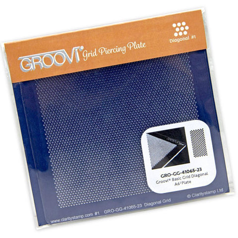 Mini Diagonal Basic Bold <br/>A6 Square Groovi Piercing Grid
