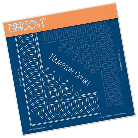 Hampton Court Palace Lace Corner Duet <br/>A5 Square Groovi Piercing Grid