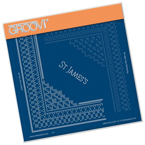 St. James's Palace Lace Corner Duet <br/>A5 Square Groovi Piercing Grid