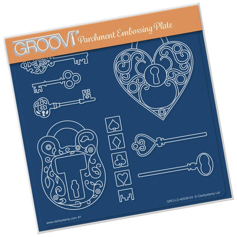 Key To My Heart <br/>A5 Square Groovi Plate