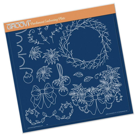 Twiggy Wreath <br/> A4 Square Groovi Plate
