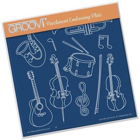 Musical Instruments <br/>A5 Square Groovi Plate <br/>(Set GRO-MU-40204-03)