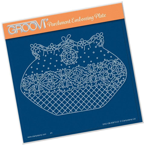 Maria Maidment's Floral Purse <br/>A5 Square Groovi Plate <br/>(Set GRO-OB-40965-03)