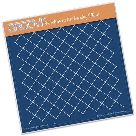 Netting Pattern <br/>A5 Square Groovi Plate <br/>(Set GRO-SE-40293-03)