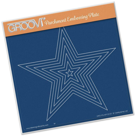Nested Stars <br/> A5 Square Groovi Plate