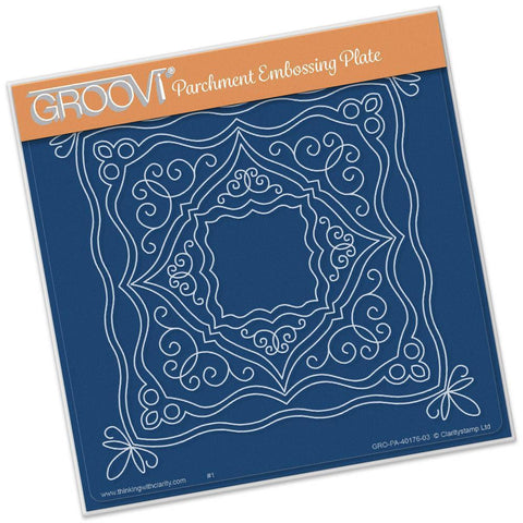 Ornate Boxes <br/> A5 Square Groovi Plate <br/> (Set GRO-PA-40206-03)