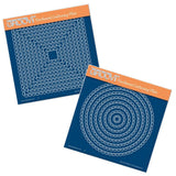 Nested Scallops Circles & Squares A5 Square Groovi Plate Set