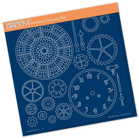 Clock Faces <br/>A4 Square Groovi Plate