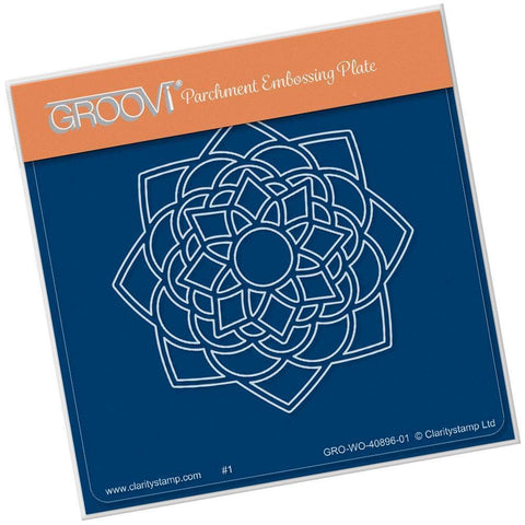 Blossom Mandala <br/>A6 Square Groovi Baby Plate